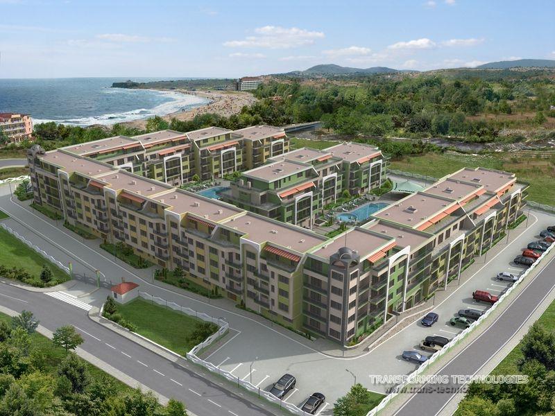 Продава Ваканционен комплекс от жилищни сгради с търговска част в Царево
